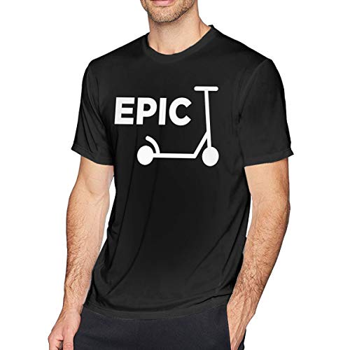 (Scooter Girl Men's Short Sleeve Crewneck Cotton T-Shirt)