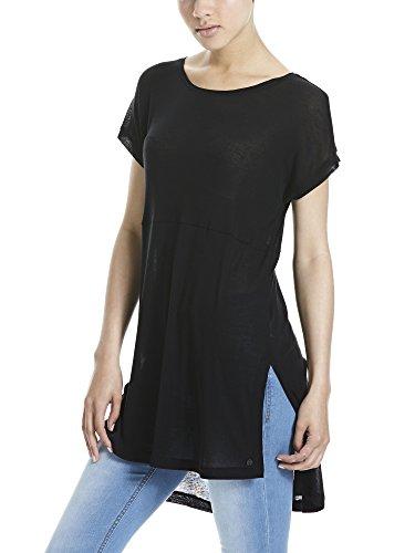 Bench Tunic Top, Camiseta para Mujer Schwarz (Black BK022)