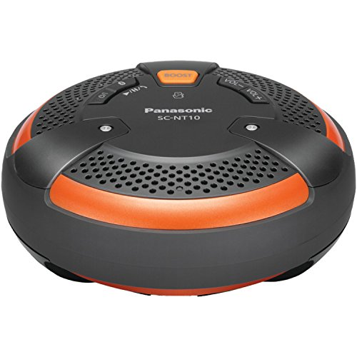 Panasonic SC-NT10-D TOUGH BlueTooth Portable Wireless Speaker System (Orange/Black)