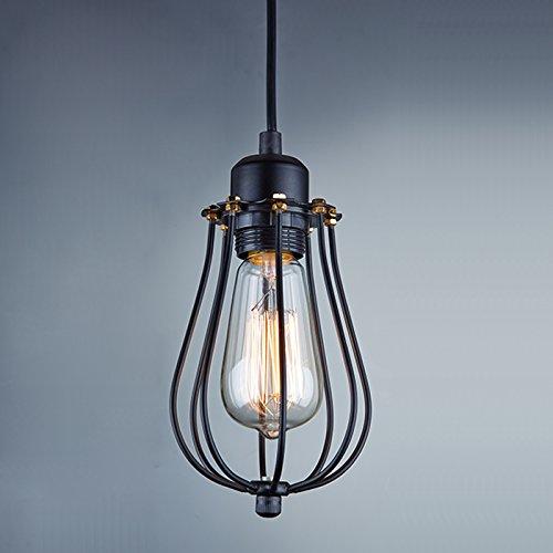 YOBO Hänge- & Pendelleuchten Hängelampe Anlage Industrie phantastisch Antik Edison Nostalgie Eisen Staubblatt Gehäuse für E27 Glühlampe Glühbirne