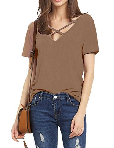 womens-summer-t-shirts-cross-front-tops-deep-v-neck-casual