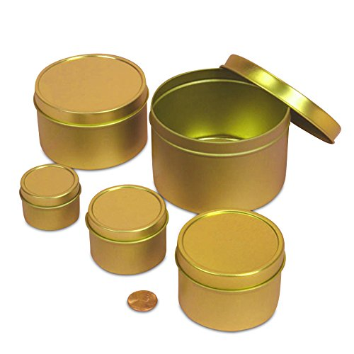 1oz Gold Deep Round Tin Can | Quantity: 720