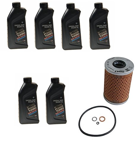 Engine Oil Change Kit 6L Twin Power 10W - 60 BMW E36 E46 M3 E86 E85 Z4 by Mahle / Genuine