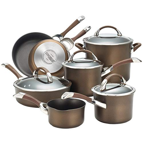 Circulon Symmetry Hard-Anodized Nonstick 11-Piece Cookware Set - Chocolate (82765)