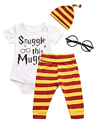 3PCS Outfit Set Baby Boys Girls Snuggle This Short Sleeve Bodysuit