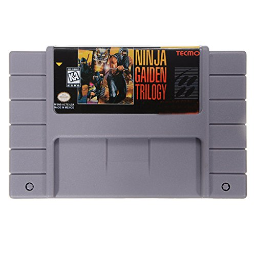 Ninja Gaiden Super Nintendo - Ninja Gaiden Trilogy 16 Bit 46 Pin Game Cartridge Card for SFC SNES NTSC System