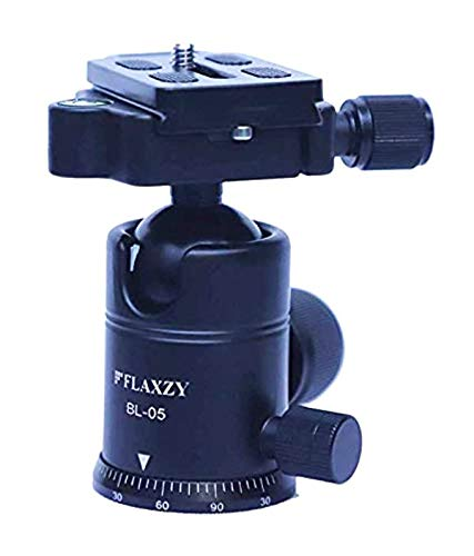 Boosty® 360 Degree Rotating Panoramic Ball Head with 1/4 inch Quick Release Plate and Bubble Level, up to 8kilograms,for Tripod, Monopod, Slider, DSLR Camera, Camcorder
