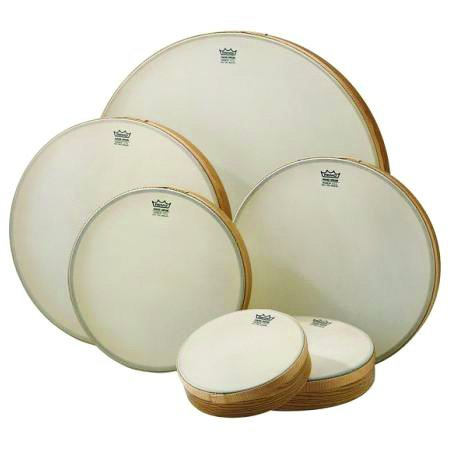 - Set of 6 Remo Renaissance Hand Drums (8-22 inches; Teen/Adult)