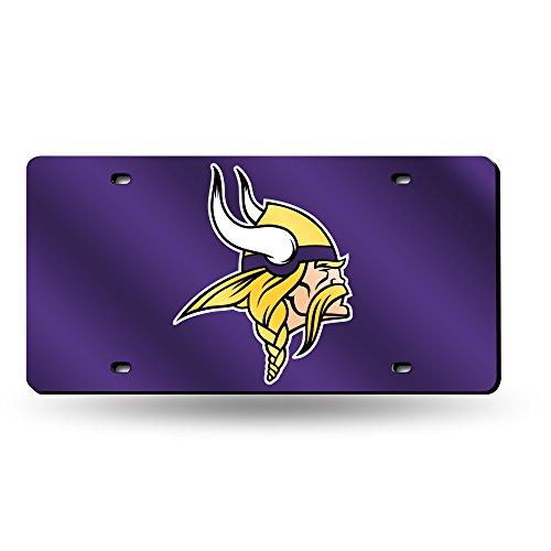 - NFL Minnesota Vikings Laser Inlaid Metal License Plate Tag