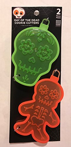 Day of the Dead Plastic Cookie Cutters 2 pcs