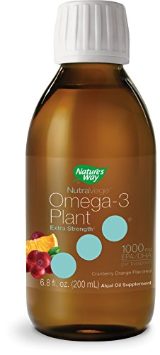 Nature's Way Extra-Strength Omega-3 Plant Based Liquid Supplement, Cranberry Orange, 6.8 Fluid (Extra Strength Liquid)