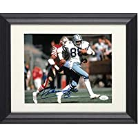 $130 » Drew Pearson signed Dallas Cowboys 8x10 Photo Custom Framing #88- JSA Witnessed (vs 49ers) - Autographed NFL Photos