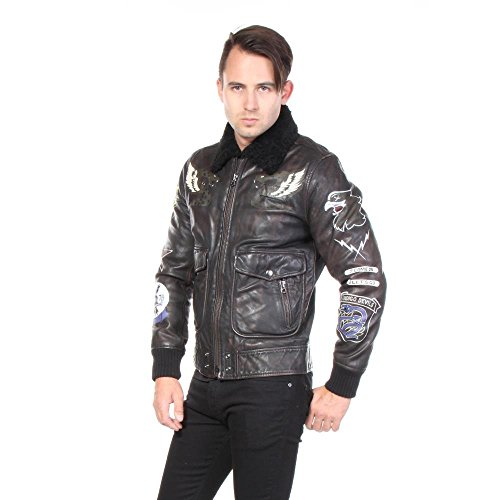 Diesel Jacken L-Kan-Paint Leder Leather Herren