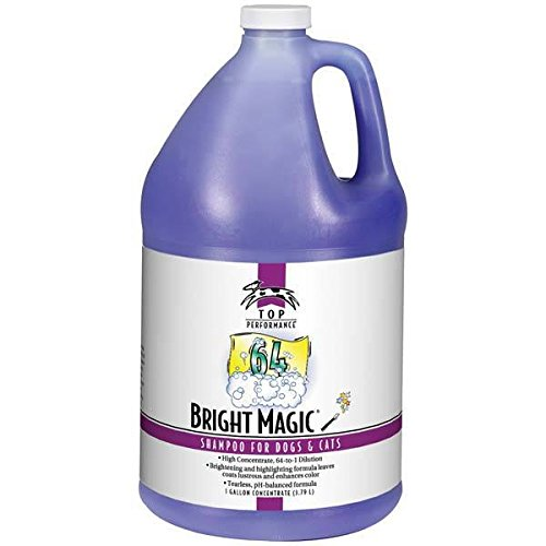 - Pet Grooming Shampoo Gallon High Concentrate Formula Pro Groomers Dilutes 64:1(Bright Magic)