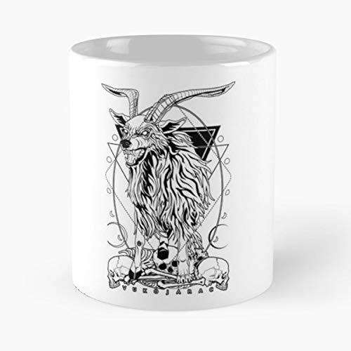 (Vukojarac Wolf Goat Mythological Gift Coffee/tea Ceramic Mug 11 Oz )