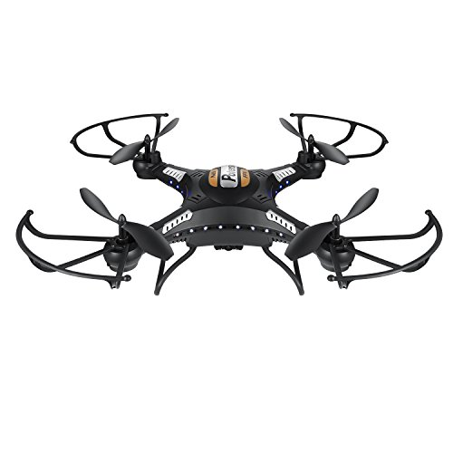 Drone with Camera, Potensic Upgraded F183DH RTF Drone Quadcopter with New Altitude Hold, Auto Hovering Function(Black)