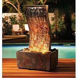 Sarah Peyton Home Slate Tower Fountain