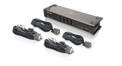 IOGEAR 4-Port DVI KVMP Switch with Cables, TAA Compliant, GCS1104 by IOGEAR