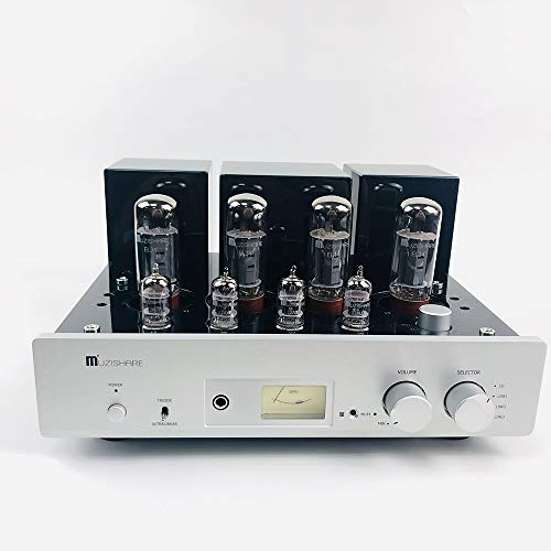 MUZISHARE X5 Integrated Amplifier EL34 x4 Push-Pull Vacuum Tube AMP with Remote Classic ()