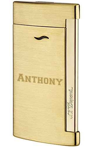 Personalized S.T. Dupont Slim 7 Shiny Chrome Lighter with Free Engraving by S.T. Dupont (Image #2)