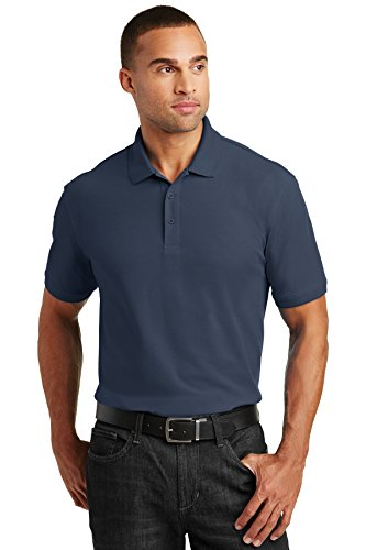 Port Authority Tall Core Classic Pique Polo. TLK100 River Blue Navy 4XLT