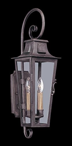 Troy Lighting Outdoor Lamp (Troy Lighting French Quarter 2-Light Outdoor Wall Lantern - Aged Pewter Finish with Clear Glass)
