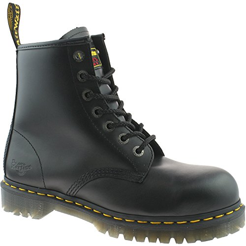 UK UK EU STEEL 51 UK MENS MENS MENS MARTENS WORK SAFETY BOOTS 7B10 15 15 ICON BLACK DR CAP SIZE 3 TOE q7xwUT