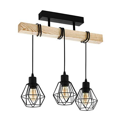 Lámpara de techo EGLO TOWNSHEND 5, lámpara de techo vintage con 3 bombillas de estilo industrial, lámpara de suspensión…