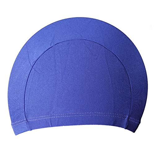 Sunny-Aha Polyester Protect Ears Long Hair Sports Swim Pool Swimming Cap Hat for Unisex Sporty Ultrathin Adult Bathing ()