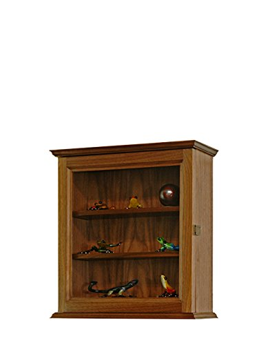Hanging Walnut Curio Cabinet *Made in the USA*