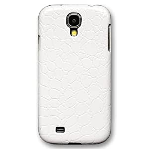 Casea Packing Fashion White Crocodile Leather Hard Case Cover Skin For Samsung Galaxy S4 i9500