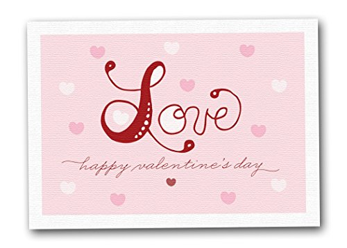 Cute Valentine's Cards, Loving Heart (Boxed Set of 12 5x7 Cards - Envelopes Included)