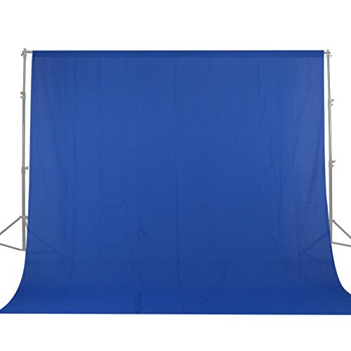 - GSKAIWEN 10x20ft/3x6m Photo Studio 100 Percent Pure Cotton Muslin Collapsible Blue Screen Backdrop Curtain Background for Photography, Video and Television (Stand NOT Included)