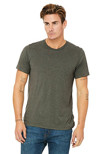 Bella Canvas Herren Triblend Kurzarm T-Shirt Militärgrün Triblend