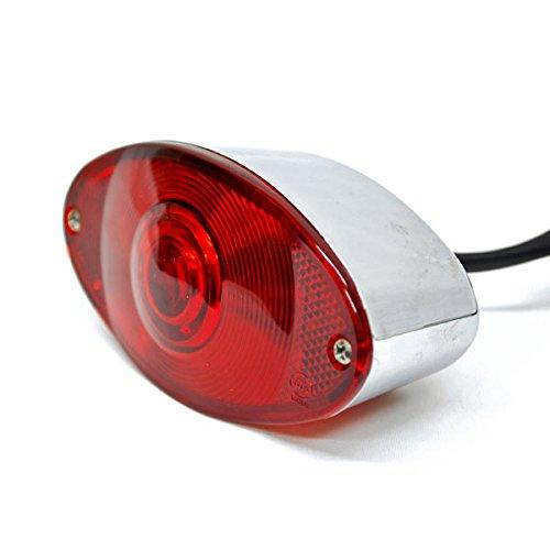 Krator Cat Eye License Plate Tag Taillight Brake Light For Harley Davidson XL Sportster V Rod Hugger - Cat Eye Running