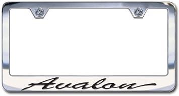 NEW Toyota Corolla Chrome License Plate Frame Engraved Script Letters Set of 2