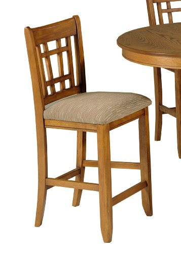 Liberty Santa Rosa Pub Casual Dining Upholstered Barstool in Mission Oak Seat Height: 30
