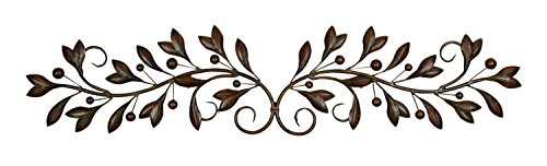 Deco 79 71885 Leaves and Berries Metal Scrollwork Wall Décor, 49