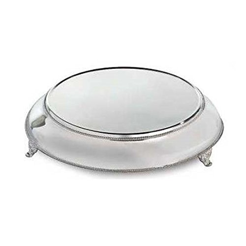 Elegance Silver 89893 Silver Plated Round Cake Stand with 20'' Base, 15-1/2'' by Elegance Silver