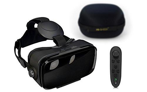 VR-SHARK® X4 Lite Bundle - Virtual Reality Kit mit Touchbutton + Hardcase + Bluetooth Controller | VR Brille für Smartphones mit 4,7 - 6,2