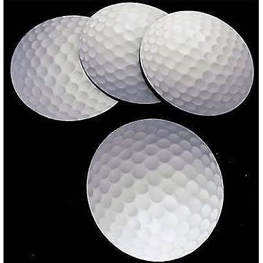 GOLF BALL Golfer Design NEW Bar 4 Coaster Drink Set Patch Biker Gift COA-0049