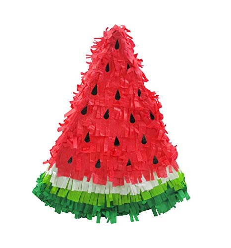 Watermelon Slice Pinata - Luau Party Game, Photo Prop and Decoration