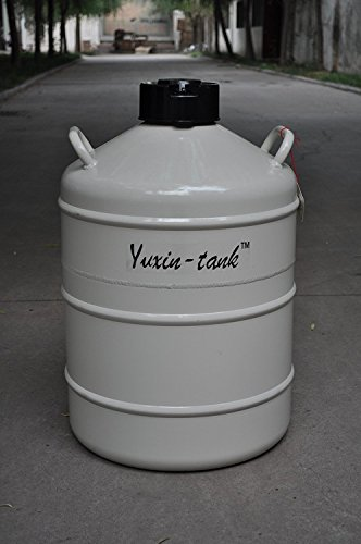 30L Cryogenic Container Liquid Nitrogen LN2 Tank with Straps and Carry Bag by Huanyu (Image #1)