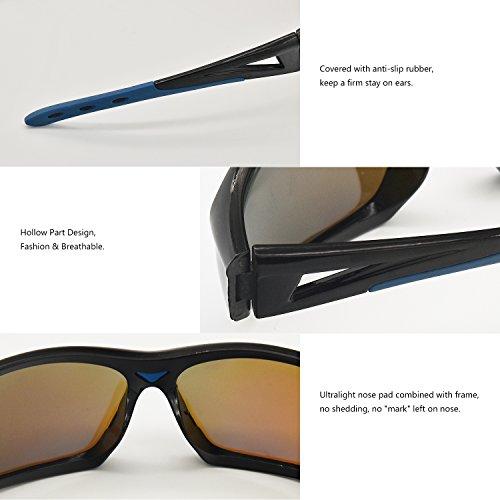Azul Hombre Polarizadas Ultraligero de para Gafas 400 Mujer Ciclismo Deportivas Sol UV de AMZTM Gafas Protección x4A1pwanHq