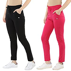Modeve Women's Slim Fit Trackpants (Pack of 2)