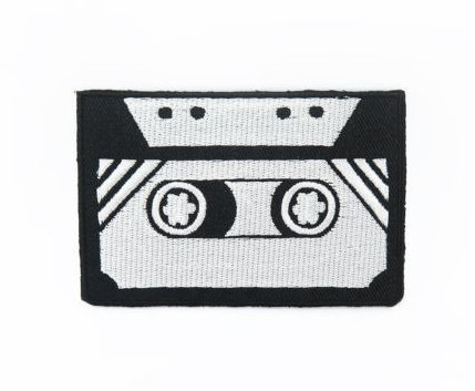 Logo Badge Fabric Embroidered Velcro Patch(BTDW) (Retro Twill Uniform Jacket)