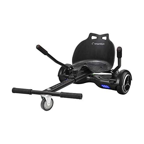 chollos oferta descuentos barato SMARTGYRO Go Kart Pro Black Asiento Kart para patín eléctrico Convierte tu Hoverboard en un Kart Universal Color Negro