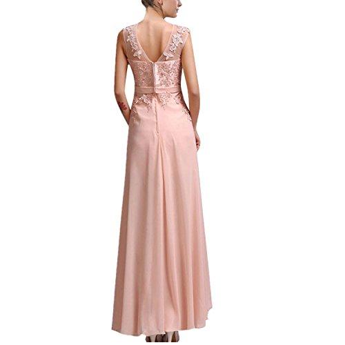 Hanxue Womens Chiffon Long Evening Dress Prom Dress Navy Blue US 8 at Amazon Womens Clothing store: