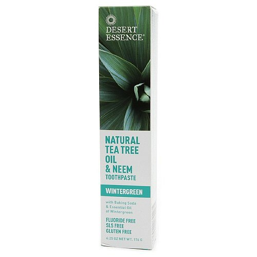 Desert Essence Natural Tea Tree Oil and Neem Toothpaste, Wintergreen ,6.25 Oz (Pack of 3)