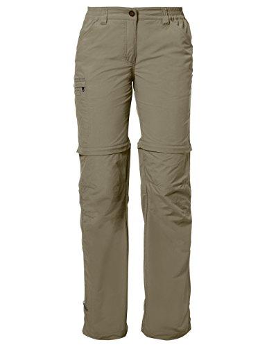 Vaude Farley ZO - Pantalones de senderismo para mujer Verde  (Verde  (verde grisáceo))
